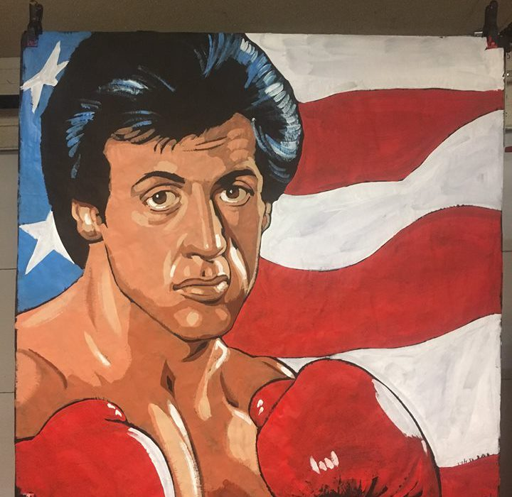"My first ""Rocky"" speed painting"